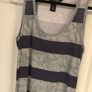 Naina's Dream Dresses - Purple & Gray maxi dress. Sz L